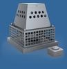 Afzuiger (schouwmontage) mechanisch voor rookgas. Aansl230V INOX 316/p.stuk