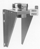 Steun: vertrekmuursteun, diameter 250 mm Ø250mm