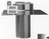 Vertrekplaat enkelwandig naar dubbelwandig, diameter 250 mm Tisend DW/pst