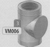 Element met inspectie-/reinigings- luik, diameter 120 mm DWmammoet/p.st