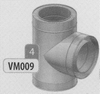 T-stuk 90 graden, diameter 120 mm DWmammoet/p.st