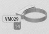 Beugel: muurbeugel, diameter 140 mm DWmammoet/p.st