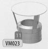 Kap: standaard regenkap, diameter 140 mm DWmammoet/p.st