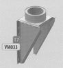 Steun: vertrekmuursteun, diameter 140 mm DWmammoet/p.st