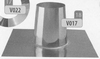 Dakplaat: 0 graden volledig inox (plat dak), diameter 200 mm Ø200mm