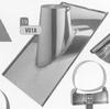 Dakplaat 30-45 graden volledig inox (leien), diameter 200 mm DW/p.stuk