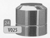 Eindstuk: konisch eindstuk, diameter 250 mm DW/p.stuk