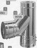 T-stuk: vertrek T-stuk, diameter 250 mm Ø250mm