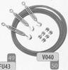 Tuidraad-set (12m kabel, 6 kabelklemmen en 3 trekkers) DW32/ p.stuk