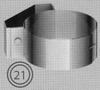 Beugel: tussensteun muurbeugel, diameter 060/100 mm TWIN /p.stuk