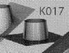 Dakplaat 0 graden RVS/inox (plat dak), diameter 060/100 mm TWIN /p.stuk