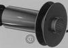 Eindstuk: horizontaal (glanzend) RVS/inox, (060/100 mm) TWIN /p.stuk