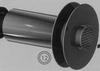Eindstuk: horizontaal (wit gekleurd), diameter 060/100 mm TWIN /p.stuk