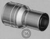 Verloopstuk voor aansluiting van 060/100 mm TWIN /p.stuk