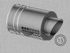 Afwerkingstuk: horizontaal, diameter 080/125mm TWIN /p.stuk