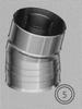 Bocht 15 graden, diameter 080/125 mm TWIN /p.stuk