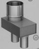 Passtuk: concentrisch (Biflux), diameter 100/150 mm TWIN /p.stuk