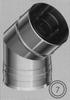 Bocht 45 graden, diameter 130/200 mm TWIN /p.stuk