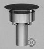 Kap: gekleurde regenkap voor konisch eindstuk (130/200mm) TWIN /p.stuk