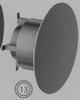 Kap: windwerend (eindstuk gekleurd), diameter 130/200 mm TWIN /p.stuk