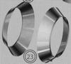 Kraag: stormkraag, diameter 130/200 mm TWIN /p.stuk