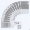 Bocht: Geplooide bocht 90 graden, diameter 125 mm FLEX / p.stuk