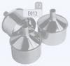 Dop met afloop voor T-stuk, diameter 250 mm FLEX / p.stuk